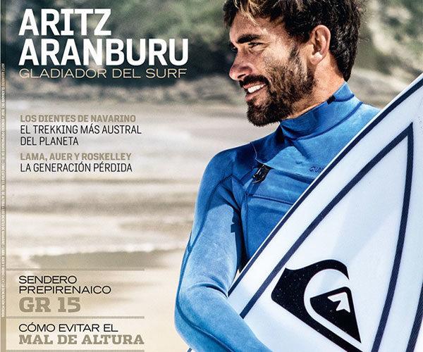 Aritz Aranburu, portada de Oxígeno | Foto: Edu Bartolomé/Comunica Surf